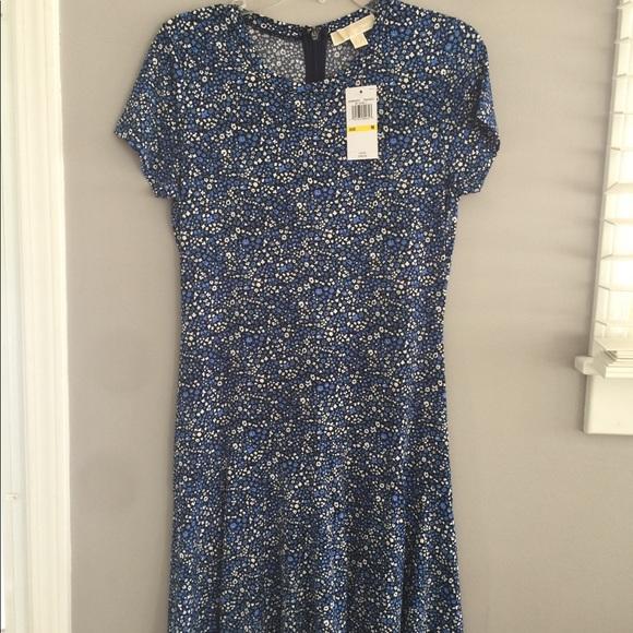 Michael Kors Dresses & Skirts - Michael Kors Blue Flower Pattern Dress